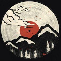 tenture murale japonaise montagnes vinyl