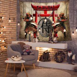 tenture japonaise samourai kata