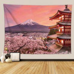 tenture japonaise mont fuji et chureito pagoda