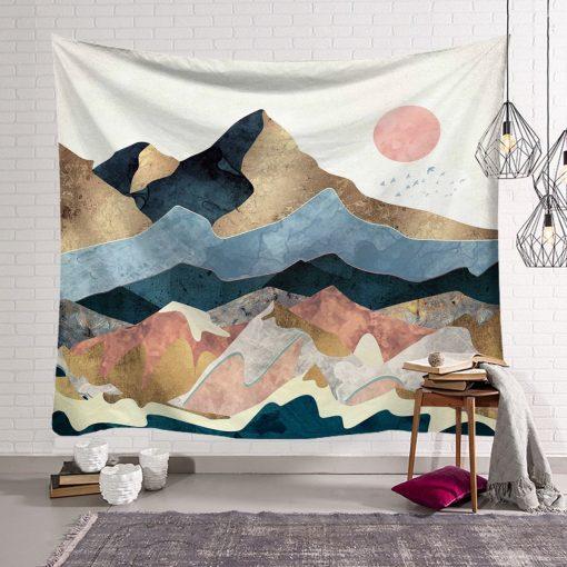 tenture nature montagnes scandinaves