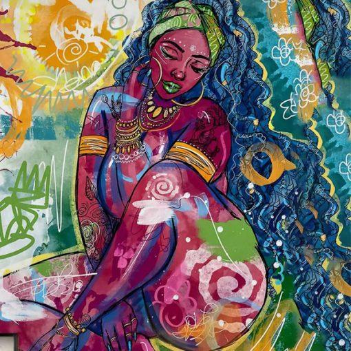 tenture murale africaine afro art