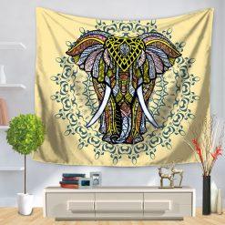 tenture murale elephant force et sagesse