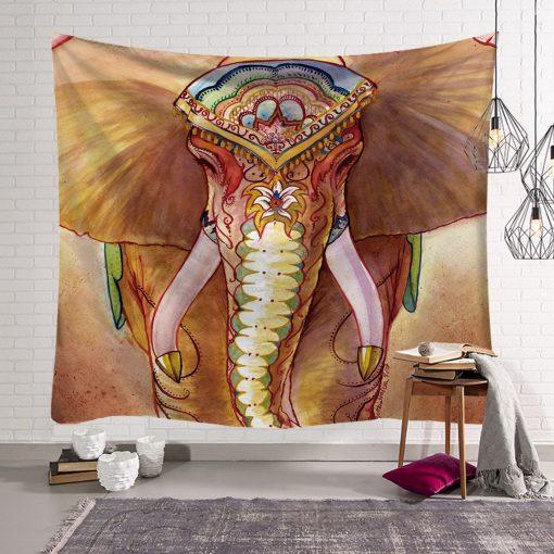 tenture murale elephant hippie