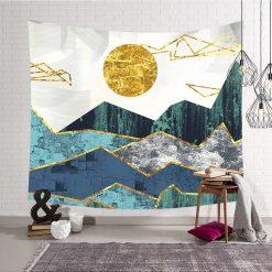 tenture murale paysage or dore