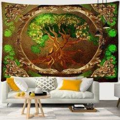 tenture murale vintage arbre de vie