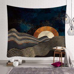 tenture nature mer couche de soleil