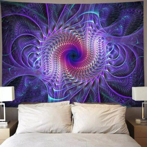 tenture psychedelique fractal