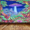 tenture psychedelique lumiere noire zen ET
