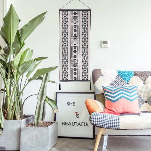 tapisserie murale tissee ethnique