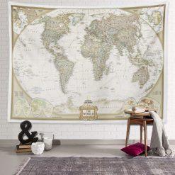 tenture murale carte du monde globe