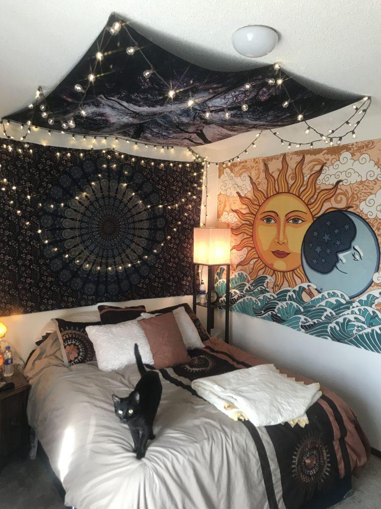tenture murale lune ado
