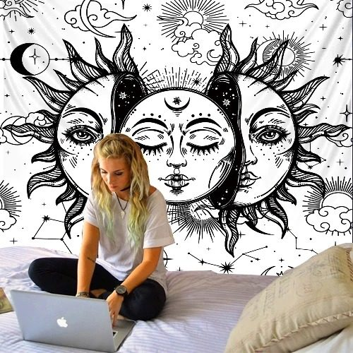 tenture murale soleil lune