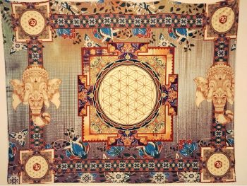 tenture murale tibetaine